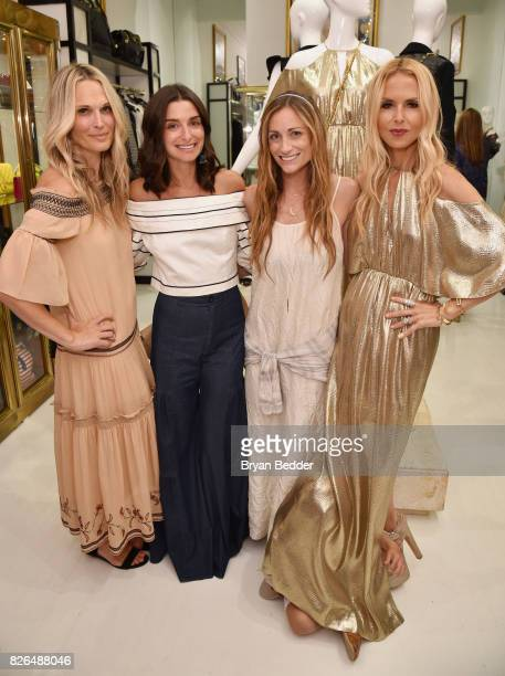 Molly Sims Candice Miller Marcella Guarino and Rachel Zoe attend the Rachel Zoe x What Goes Around Comes Around popin on August 4 2017 in East...