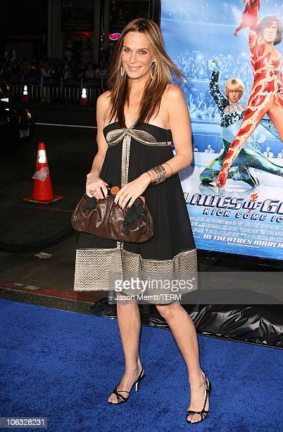 Molly Sims during Blades Of Glory Los Angeles Premiere Arrivals at Grauman's Chinese Theatre in Hollywood California United States