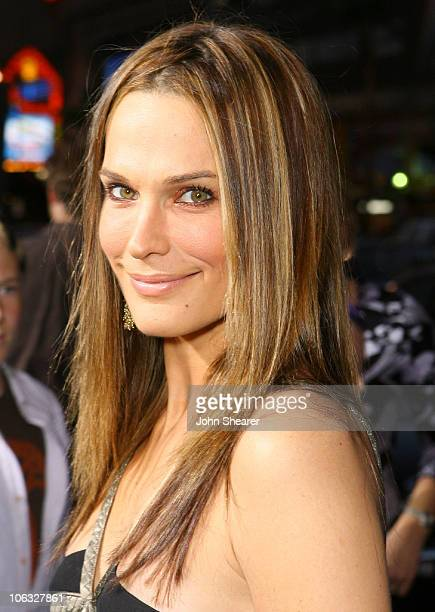 Molly Sims during Blades of Glory Los Angeles Premiere Red Carpet at Mann's Chinese Theater in Hollywood California United States