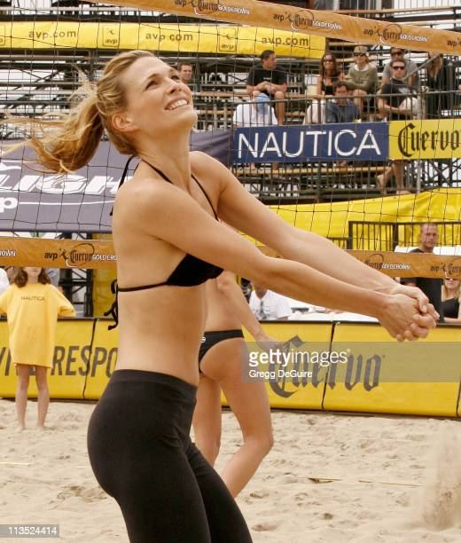 Molly Sims during Molly Sims Attempts To Qualify For The AVP Cuervo Gold Crown Huntington Beach Open Volleyball Tournament at Huntington Beach Pier...
