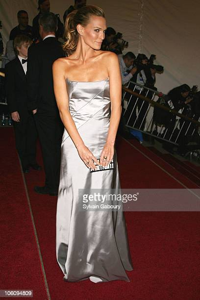 Molly Sims during The Costume Institute Gala celebrating AngloMania Tradition and Transgression on British Fashion at Metropolitan Museum of Art in...