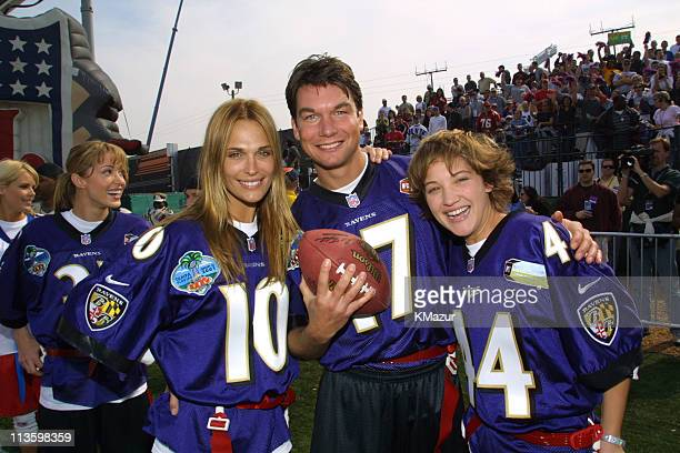 Molly Sims, Jerry O'Connell & Colleen Haskell during Super Bowl XXXV - MTV Rock 'N Jock at Raymond James Stadium in Tampa, Florida, United States.