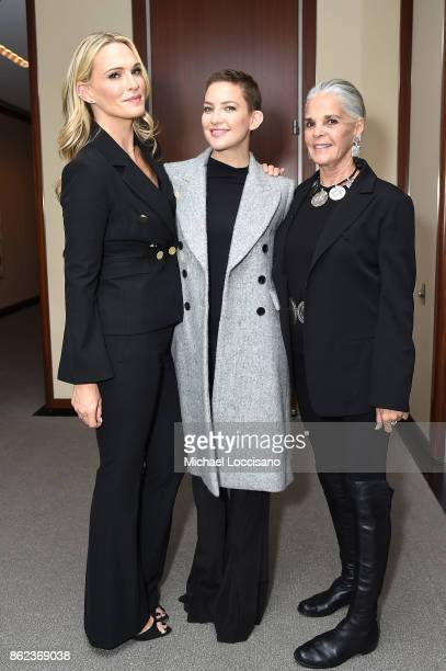 Molly Sims Kate Hudson and Ali Macgraw attends Hearst Magazines' Unbound Access MagFront at Hearst Tower on October 17 2017 in New York City