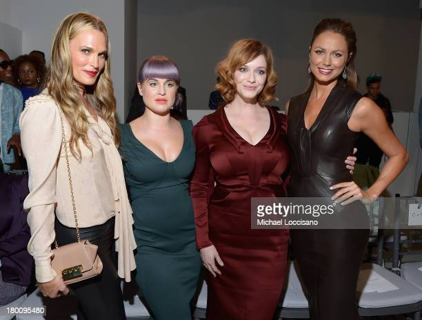 Molly Sims Kelly Osbourne Christina Hendricks and Stacy Keibler attends the Zac Posen fashion show during MercedesBenz Fashion Week Spring 2014 at...