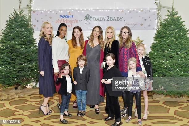 Molly Sims Kelly Rowland Michelle Monaghan Jessica Alba Rachel Zoe and Rebecca Gayheart attend The Baby2Baby Holiday Party Presented By ToysRUs At...
