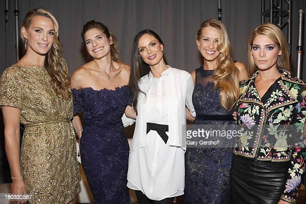 Molly Sims Lake Bell Georgina Chapman Petra Nemcova and Ashley Greene attend the Marchesa show during Spring 2014 MercedesBenz Fashion Week at New...