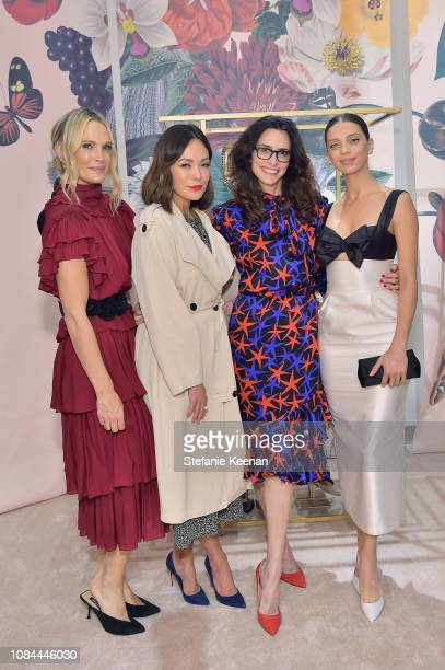 Molly Sims Lindsay Price Elizabeth Stewart and Angela Sarafyan attend Sergio Rossi Elizabeth Stewart Celebrate Capsule Collection at PopUp at...