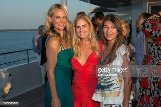 Molly Sims Mary Alice Haney and Nina Garcia attend the HANEY's Fifth Year Anniversary Celebration on August 24 2018 in Sag Harbor New York