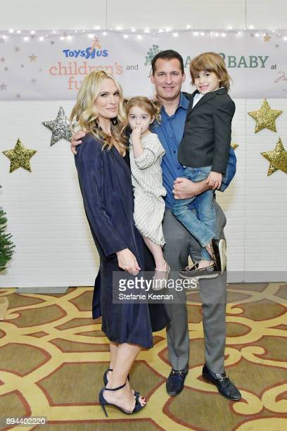 Molly Sims Scott Stuber and family attend The Baby2Baby Holiday Party presented by Toys'R'Us at Montage Beverly Hills at Montage Beverly Hills on...
