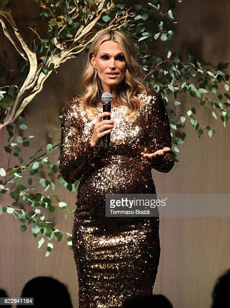 Molly Sims speaks onstage during the Fifth Annual Baby2Baby Gala Presented By John Paul Mitchell Systems at 3LABS on November 12 2016 in Culver City...