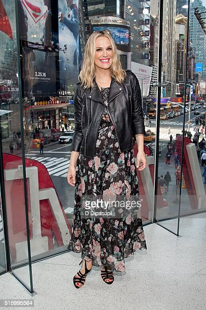 Molly Sims visits 'Extra' at their New York studios at HM in Times Square on March 15 2016 in New York City