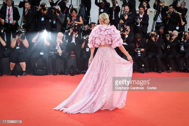 """Molly Sims walks the red carpet ahead of the """"Marriage Story"""" screening during the 76th Venice Film Festival at Sala Grande on August 29, 2019 in..."""