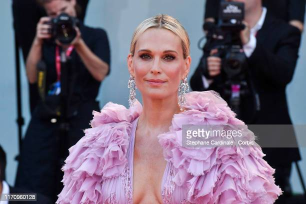 Molly Sims walks the red carpet ahead of the Marriage Story screening during the 76th Venice Film Festival at Sala Grande on August 29 2019 in Venice...