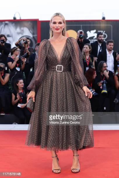 Molly Sims walks the red carpet ahead of the The Laundromat screening during the 76th Venice Film Festival at Sala Grande on September 01 2019 in...