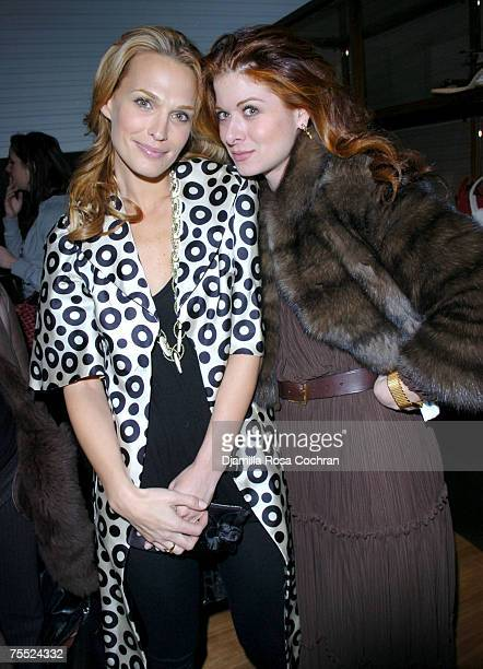 Molly Sims wearing BALLY shoes and Debra Messing at the Bally Flagship Store in New York City, New York