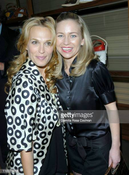Molly Sims wearing BALLY shoes and Julie Haus during BALLY Retrospective Event with W Magazine and the Central Park Concervancy at Bally Flagship...