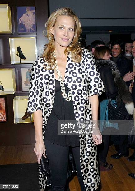 Molly Sims wearing BALLY shoes at the Bally Flagship Store in New York City, New York