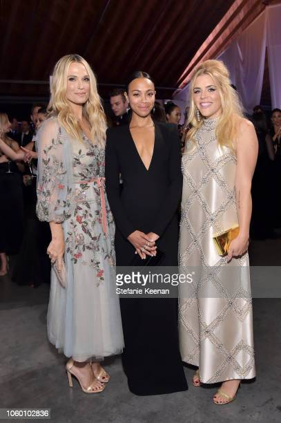 Molly Sims Zoe Saldana and Busy Philipps pose at the 2018 Baby2Baby Gala Presented by Paul Mitchell at 3LABS on November 10 2018 in Culver City...