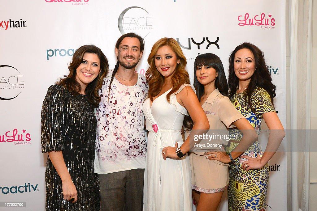 Molly Sloat, William Lemon, Toni Ko Founder & Chief Creative Director NYX Cosmetics, Natalie Alcala and Susan Yara attend the NYX Cosmetics FACE Awards at Beautycon at Siren Studios on August 24, 2013 in Hollywood, California.