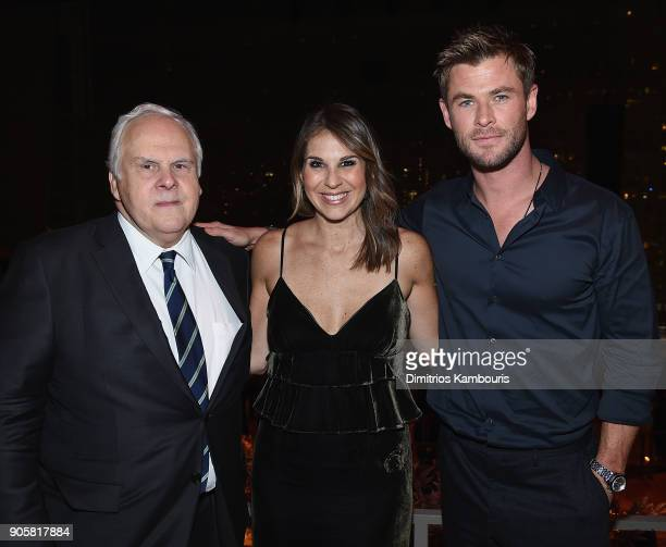 Molly Smith amd Chris Hemsworth attend The '12 Strong' World Premiere after party on January 16 2018 in New York City