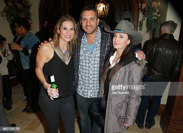 Molly Smith Mauricio Umansky and Kyle Richards attend a Black Label Media hosted party for The Art of Elysium and Elysium Industry with guest host...