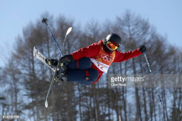 Molly Summerhayes of Great Britain in action during Freestyle Skiing Ski Halfpipe training on day eight of the PyeongChang 2018 Winter Olympic Games...