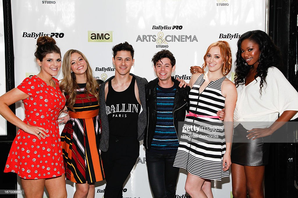 Molly Tarlov, Sasah Pieterse, Michael J. Willett, Paul Iacono, Andrea Bowen, and Xosha Roquemore attend BaByliss PRO Arts & Cinema Studio Press-Day on April 19, 2013 in New York City.