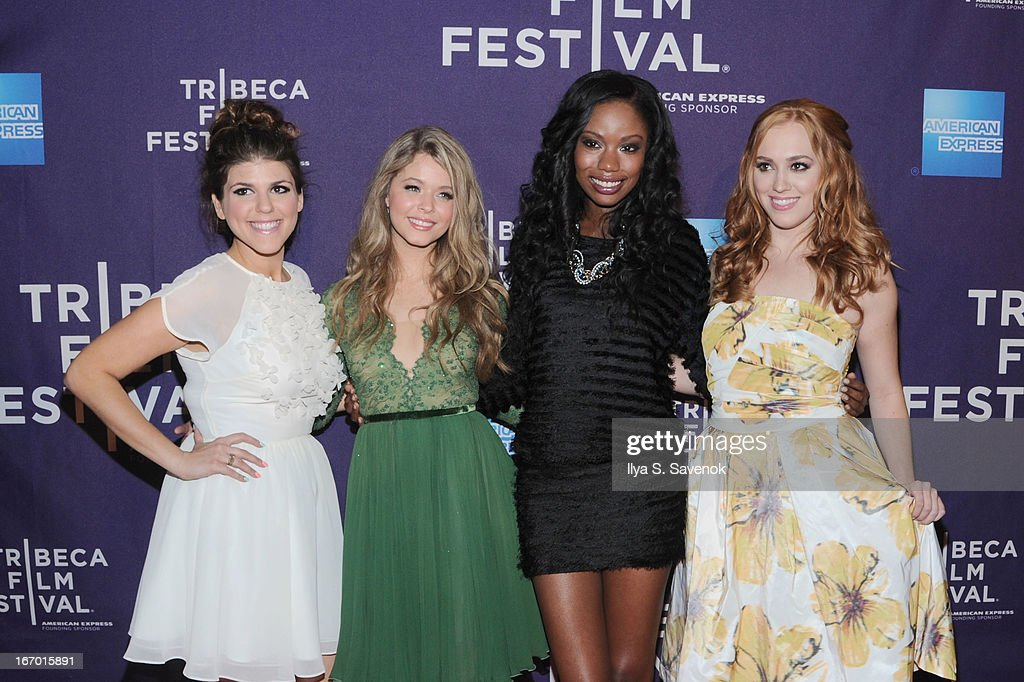 Molly Tarlov, Sasha Pieterse, Xosha Roquemore and Andrea Bowen attend the 'G.B.F.' world premiere during the 2013 Tribeca Film Festival on April 19, 2013 in New York City.