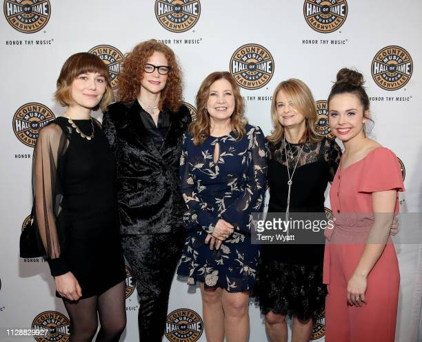 Molly Tuttle Alison Brown Missy Raines Becky Buller and Sierra Hull attend the Country Music Hall of Fame and Museum's new exhibition American...