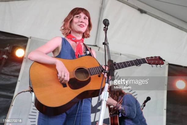 Molly Tuttle and Billy Strings perform during day three of the 2019 Newport Folk Festival at Fort Adams State Park on July 28, 2019 in Newport, Rhode...