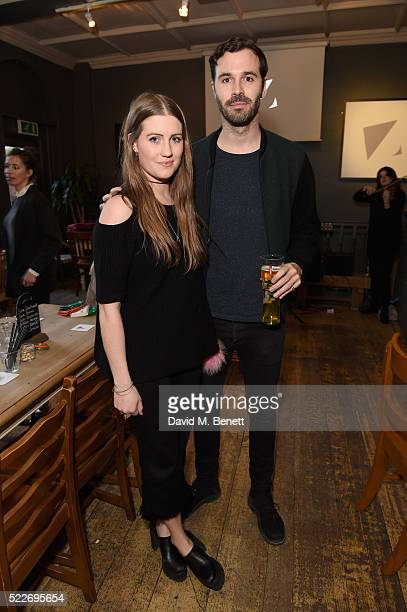 Molly Whitehall and a guest attend the Zoe Jordan KNITLA:XY Quiz Night at The Larrik Pub on April 20, 2016 in London, England.