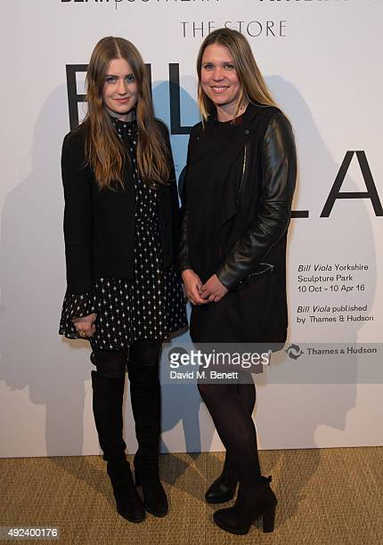 Molly Whitehall and Johanna Whitehead attend a celebration in honour of artist Bill Viola hosted by Blain|Southern and The Vinyl Factory at the...