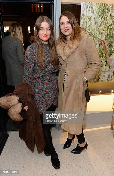 Molly Whitehall and Johanna Whitehead attend the opening of the new J&M Davidson store in Mount Street, Mayfair on February 3, 2016 in London,...