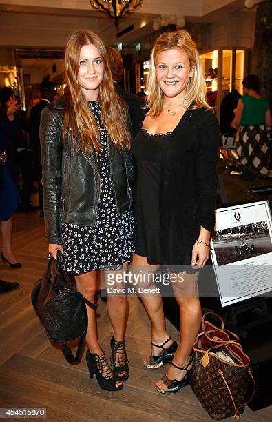 Molly Whitehall and Olivia Perry attend a cocktail reception to celebrate the new Belstaff by Goodwood racing jacket capsule collection at Belstaff...