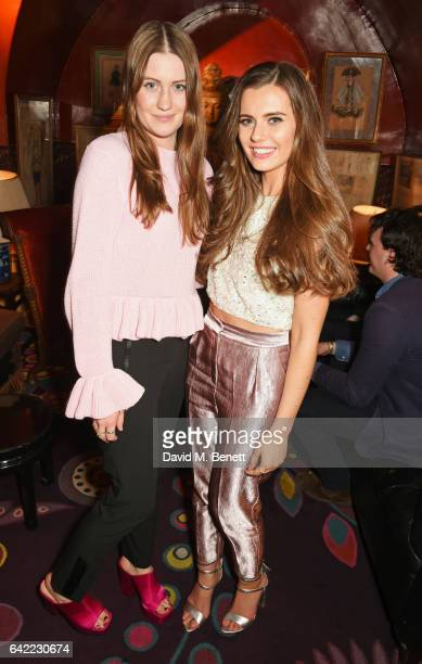 Molly Whitehall and Rachael O'Connor attend Annabel's Bright Young Things 2017 at Annabel's on February 16, 2017 in London, England.