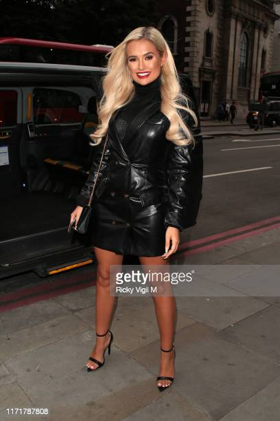 Molly-Mae attends the boohooMan X Tommy Fury Launch Dinner on September 02, 2019 in London, England.