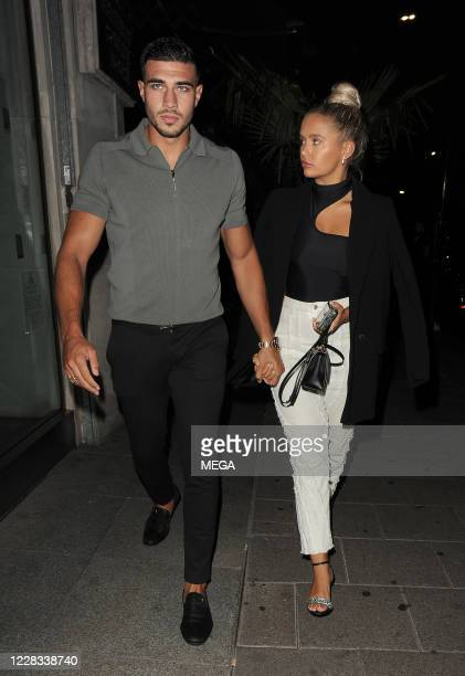 Molly-Mae Hague and boyfriend Tommy Fury at Amazonia restaurant on September 3, 2020 in London, England.