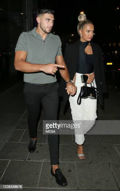 Molly-Mae Hague and Tommy Fury at Amazonia restaurant on September 3, 2020 in London, England.