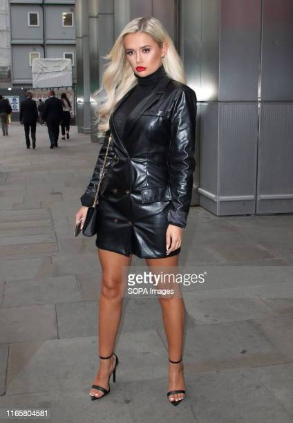 MollyMae Hague attends the boohooMAN Dinner to celebrate the launch of BoohooMAN collaboration with Tommy Fury at Sushisamba City in London