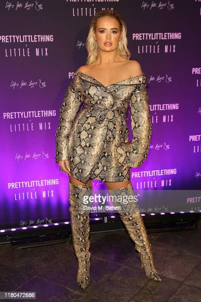 MollyMae Hague attends the launch of the PrettyLittleThing x Little Mix collection at Aynhoe Park House on November 6 2019 in Banbury England