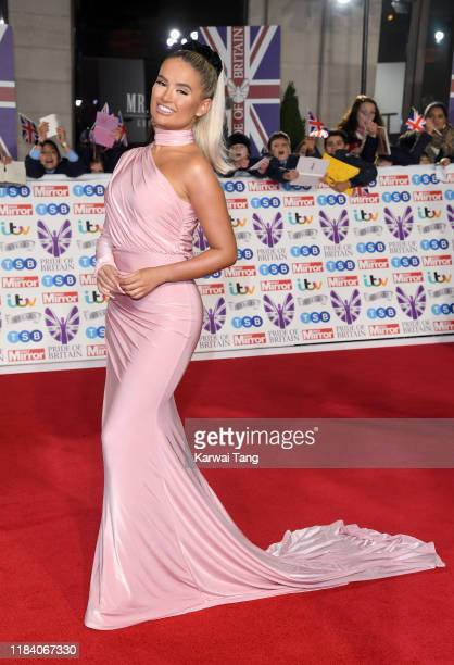 Molly-Mae Hague attends the Pride Of Britain Awards 2019 at The Grosvenor House Hotel on October 28, 2019 in London, England.