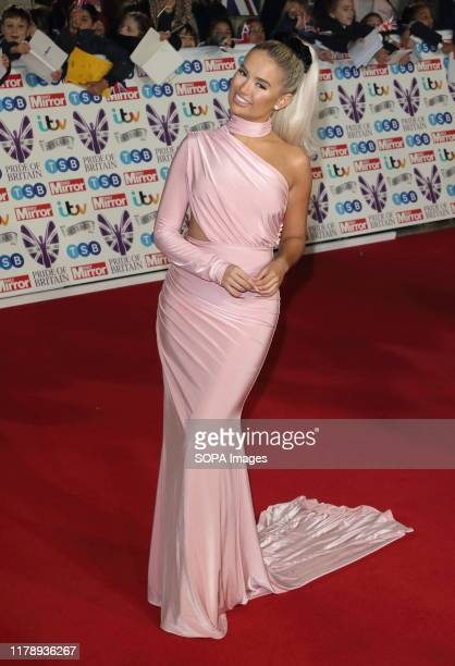 Molly-Mae Hague on the red carpet at The Daily Mirror Pride of Britain Awards, in partnership with TSB, at the Grosvenor House Hotel, Park Lane.