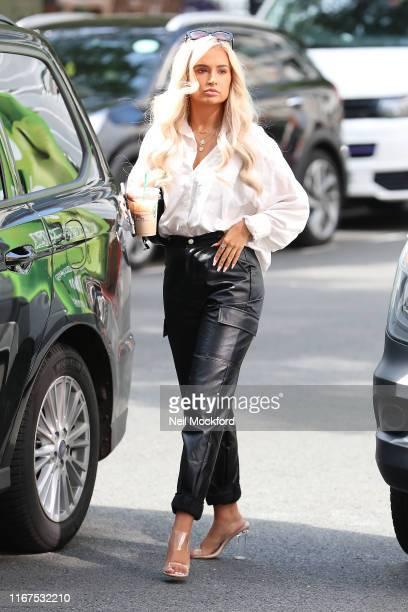 MollyMae Hague seen at KISS FM UK radio studios on August 12 2019 in London England