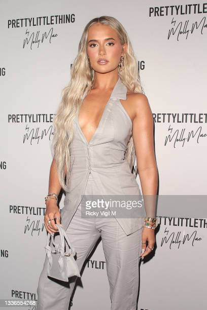 Molly-Mae Hague seen attending PrettyLittleThing by Molly Mae - launch party at Novikov on August 26, 2021 in London, England.
