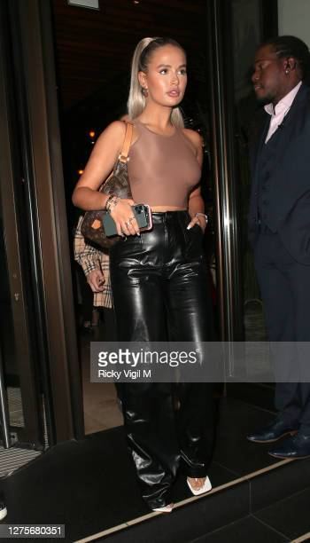 Molly-Mae Hague seen on a night out at Novikov restaurant in Mayfair on September 22, 2020 in London, England.