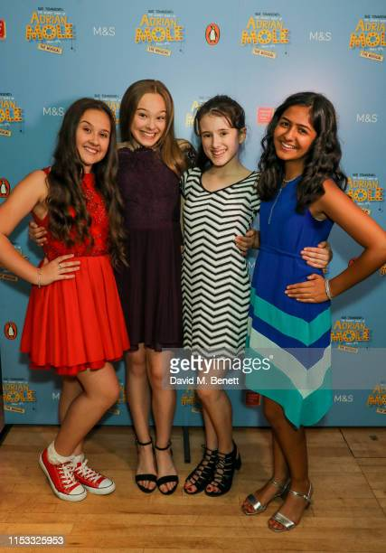 """Molly-May Gibson, Rebecca Nardin, Matilda Hopkins and Riya Vyas attend the press night after party for """"The Secret Diary Of Adrian Mole: The Musical""""..."""