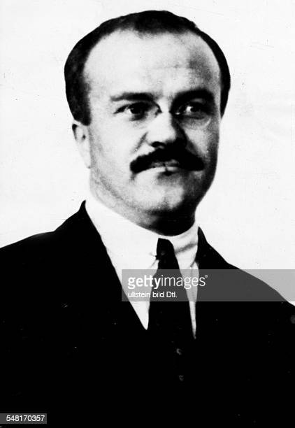 Molotov,Vyacheslav Mikhailovich 1890-1956 politician, USSR ^1930-41 chairman of the council of people's commissars foreign minister 1939-49 and...