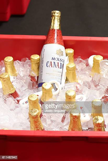 Molson Canadian beer in the locker room of Team Canada during Game Two of the World Cup of Hockey final series at the Air Canada Centre on September...