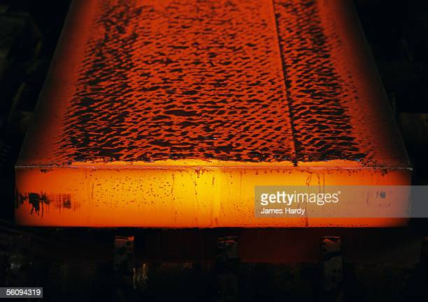 molten steel, close-up - steelmaking stock photos and pictures