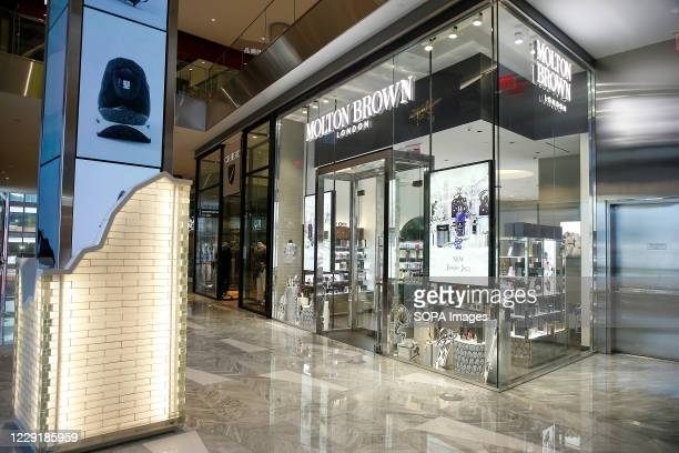 Molton Brown logo and store seen in Hudson Yards.
